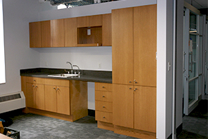Boston College Merkert Center kitchen