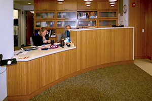 Boston University Sargent Center desk