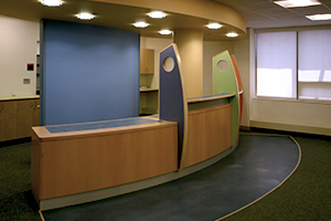 Children's Hospital, Waltha, reception deskm