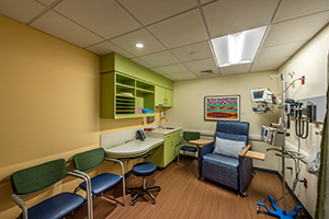 Dana Farber Pediatrics treatment room