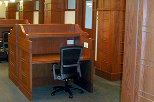 Harvard Law Library custom desks