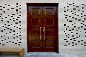 Temple Ahavat Achim entrance door