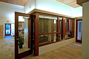 Temple Ahavat Achim entrance to library