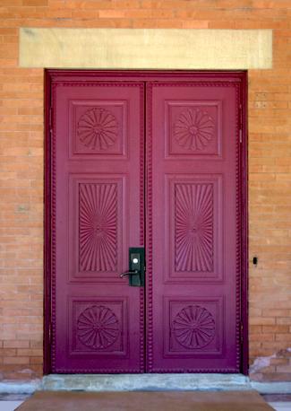 Renovated door at Children's Hospital at Kent St