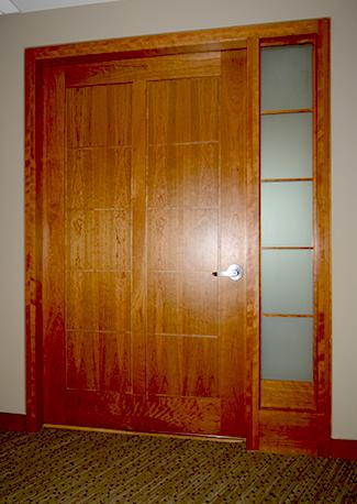 door at Northeastern's President's Office