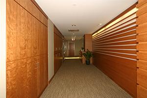 Northeastern University President's Office hallway
