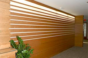 Northeastern University President's office wall